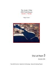 Ship Lab Report 3 - Nautical Archaeology at Texas A&M University