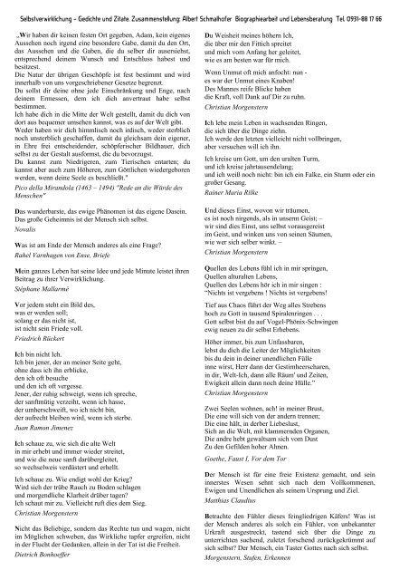 Selbstverwirklichung Gedichte Zitate