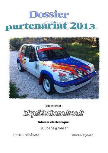 Dossier de sponsoring pour rallye Béné - Le Carnet Montilien