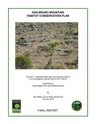san bruno mountain habitat conservation plan final report