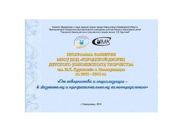 Программа развития МБОУ ДОД