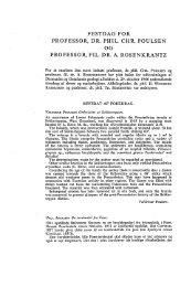 Festdag for professor, dr. phil. Chr. Poulsen og - Dansk Geologisk ...