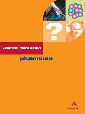 plutonium - AREVA