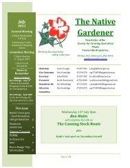 The Native Gardener - SGAP Townsville