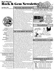 Rock & Gem Newsletter - Port Moody Rock & Gem Club
