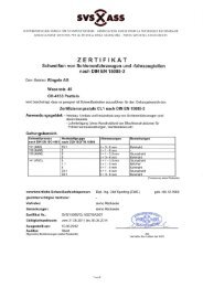 SVS Zertifikat nach DIN EN 15085-2 - Ringele AG