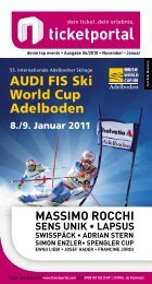 AUDI FIS Ski World Cup Adelboden - ShoWare Admin - Login