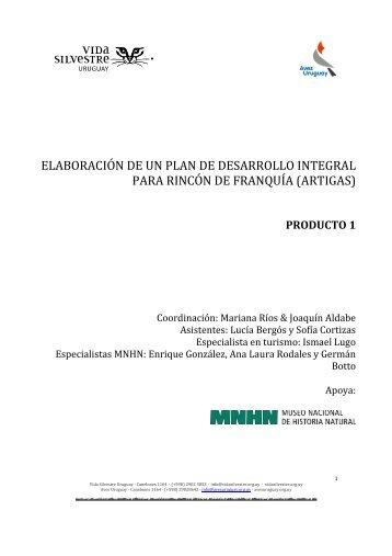 Producto 1 - Vida Silvestre Uruguay