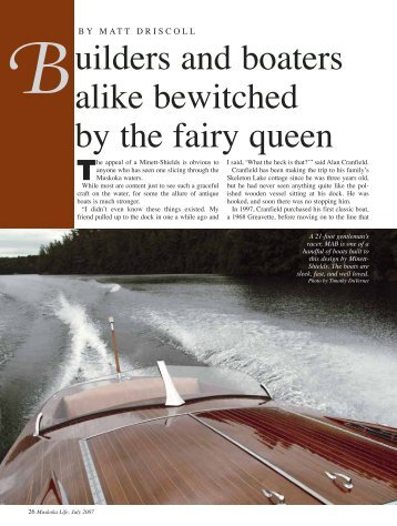 uilders and boaters alike bewitched by the fairy ... - Brackley Boats