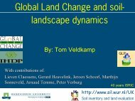 Global Change and soil-landscape dynamics - ISRIC World Soil ...