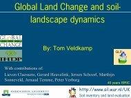 Global Change and soil-landscape dynamics - ISRIC World Soil ...