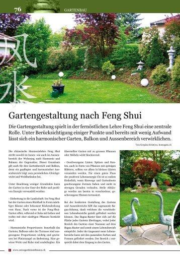 Harmonie im Garten und Wohnen - Feng Shui