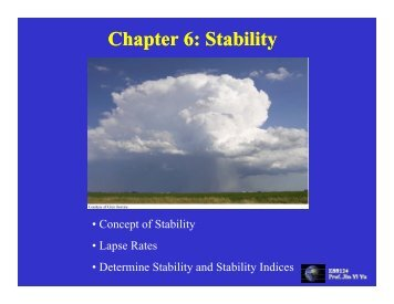 Chapter 6: Stability