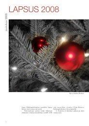 Joulun 2008 Lapsus pdf-muodossa - Lapin Psykologiyhdistys ry