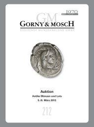 Auktion Antike Münzen und Lots - Gorny & Mosch GmbH