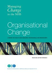 Organisational Change: a review for health care managers - NETSCC