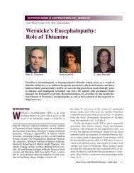 Wernicke's Encephalopathy: Role of Thiamine - Medicine
