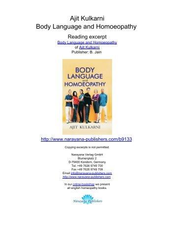 Ajit Kulkarni Body Language and Homoeopathy - Homeopathy ...