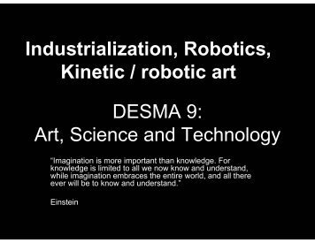DESMA 9: Art, Science and Technology ... - Classes - UCLA