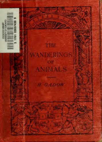 The wanderings of animals
