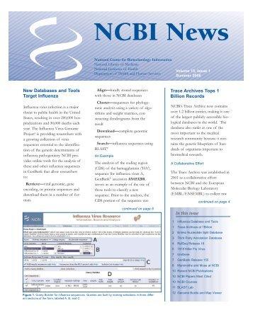 PDF - NCBI News - National Center for Biotechnology Information ...