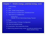 Chapter 7 – Kinetic energy, potential energy, work - UCF Physics