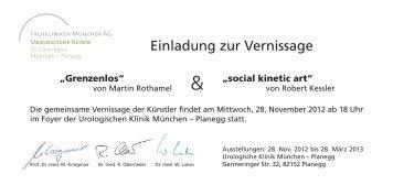 Einladung zur Vernissage - Urologische Klinik Dr. Castringius ...