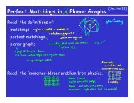 Perfect Matchings in a Planar Graphs