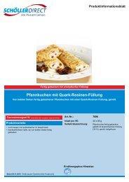 Pfannkuchen mit Quark-Rosinen-Füllung - Geyer Food Konzept ...
