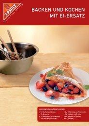 Backen Und Kochen Mit Ei-ersatz - 3 Pauly