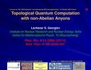 seminar: TQC with Pfaffian qubits - GGI - Infn