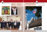 Ritterhausgesellschaft Bubikon Jahrheft 2011 - Ritterhaus Bubikon
