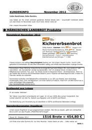Kundeninfo November 2012 - Märkisches Landbrot