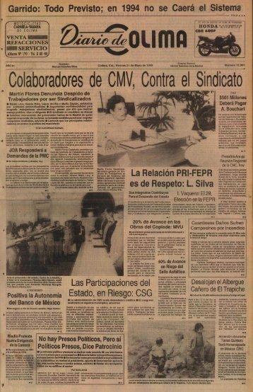 Colaboradores de CMV, Contra el Sindicato - Universidad de Colima