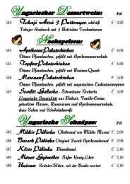 Ungarische Desserts + Schnäpse '13 - Hotel