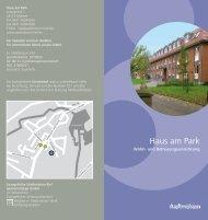 Haus am Park - Stadtmission Kiel