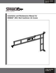 (WC) Wall Cantilever Jib Cranes - Spanco