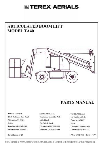 Genie z45 25 parts manual