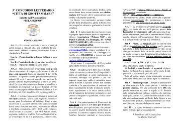 """3° concorso letterario """"città di grottammare"""" (ap) - EPUCANOSTRA.it"""