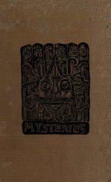 Sacred Mysteries by R. Macoy - Salem Lodge No. 4