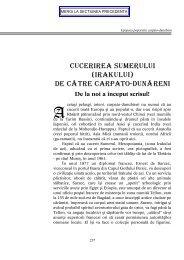 CUCERIREA SUMERULUI (IRAKULUI) de C`tre carpato ... - Dacia.org