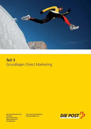 Grundlagen Direct Marketing - Die Schweizerische Post