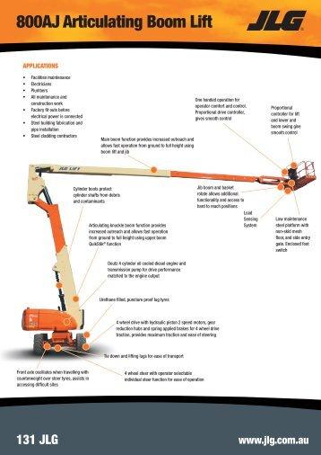 800AJ Articulating Boom Lift - JLG