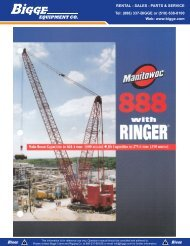 Manitowoc 888 Ringer Product Guide - Cranes for Sale