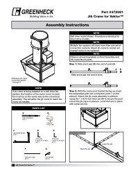 Jib Crane Assembly Instructions for Vektor (#472081 ... - Greenheck