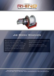 Jib Boom Winches - Rhino Drilling & Mining Equipment