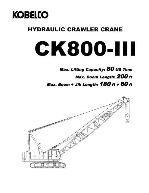 hydraulic crawler crane - Kobelco Cranes North America