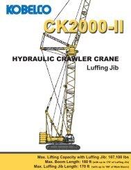 Kobelco CK2500-II Crane Chart