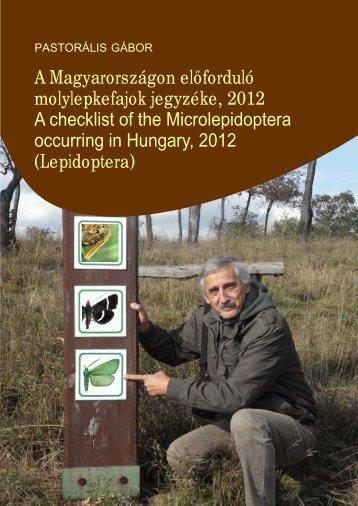 A Magyarországon előforduló molylepkefajok jegyzéke, 2012 ... - EPA