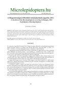 A Magyarországon előforduló molylepkefajok jegyzéke, 2012 ... - EPA - Page 2